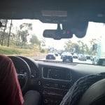 Audi Selfdriving in LA traffic