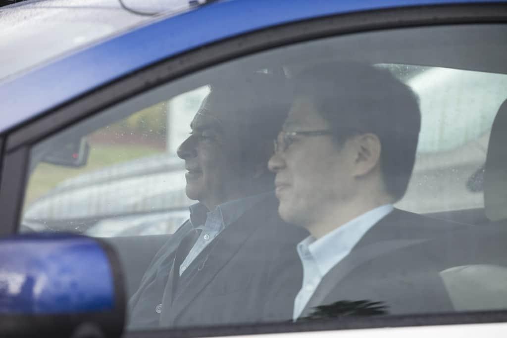 Renault-Nissan Alliance rides in Intelligent Driving Leaf