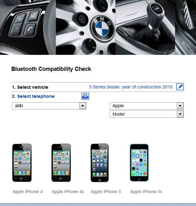 bmwbluetoothcompatiblitycehck