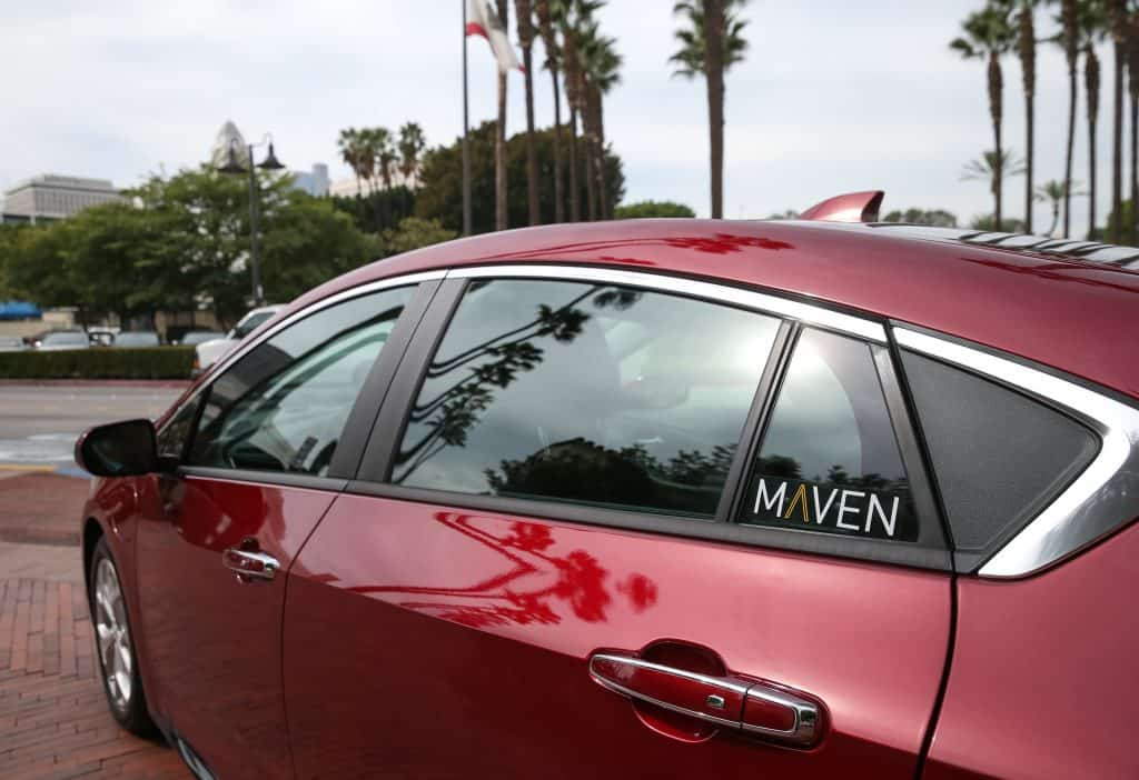 Maven, General Motors' personal mobility brand, announces it is expanding into Los Angeles with Maven City car sharing, Thursday, October 27, 2016 in Los Angeles, California. Registered customers can use the Maven app to reserve one of 60 initial vehicles at more than 24 sites throughout the city. Pricing options start at $8 an hour, and fuel and insurance costs are included. There is no monthly or application fee for Maven City members. (Photo by Dan MacMedan for Maven)