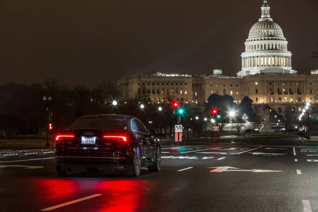 Audi V2i Connects To Traffic Lights In Washington D C