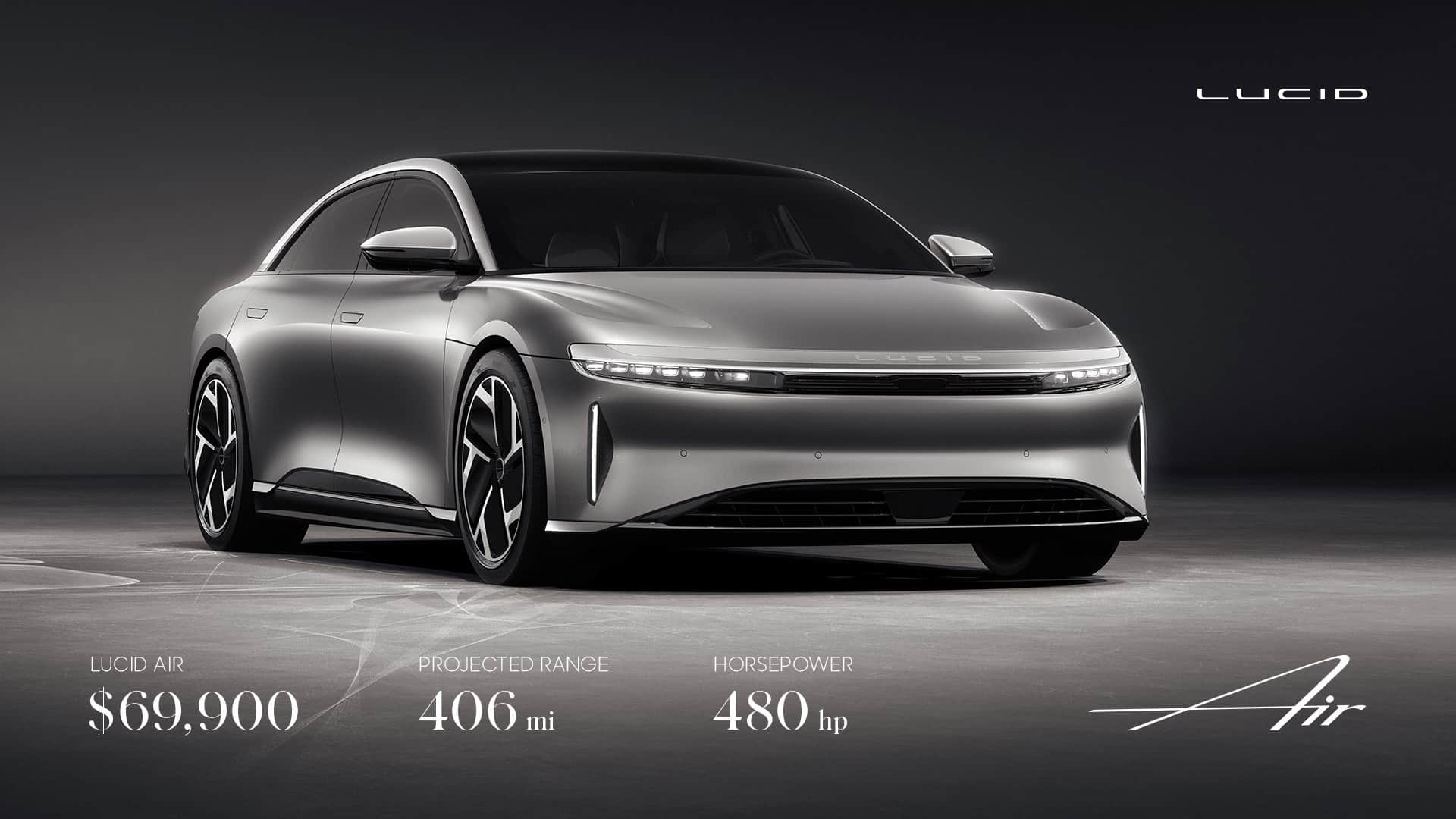 Lucid Motors Lucid Air Cheapest Model | auto connected car ...